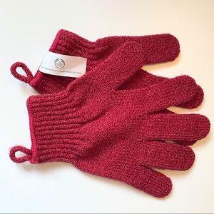 4/$20 NWOT The Body Shop Exfoliating Bath Gloves